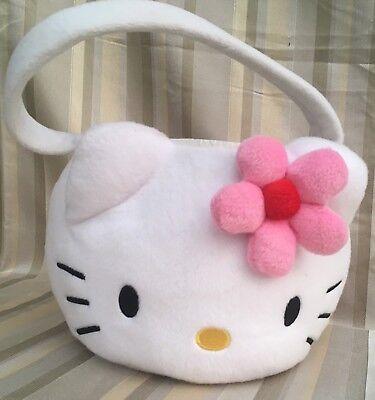 2004 Hello Kitty Halloween Easter Pink Flower Girl Plush Candy Bag Basket Rare  - Hello Kitty Easter Baskets