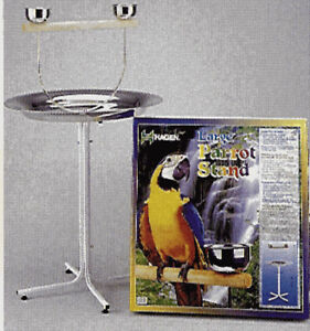 Parrot stand for medium and large birds
