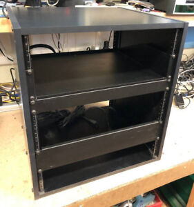 Half Height Wood Panel 12U Network Rack For Sale!