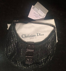 CHRISTIAN DIOR Silver Bag Trotter small 100% Authentic
