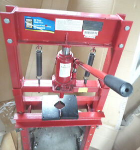 12 Ton Hydraulic Shop Press. Floor Stand Type. Never Used As New