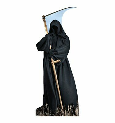GRIM REAPER OUTDOOR YARD HALLOWEEN DECORATIONS LIFESIZE STANDUP STANDEE CUTOUT - Grim Reaper Decorations