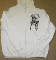 Adult Full Zipper Hoodie with nice horse picture on the front
