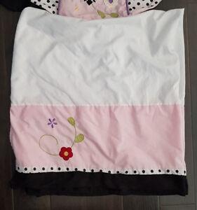 6 piece crib bedding set (butterflies)