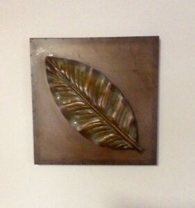 Copper Tone Metal Wall Art Picture, 3 Dimensional - St. Thomas