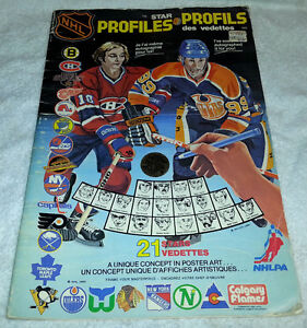 1980 NHL HOCKEY PROFILES COLORING BOOK GRETZKY COVER