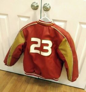 Super Rare Red NIKE MICHAEL JORDAN LEATHER JACKET (LARGE*)