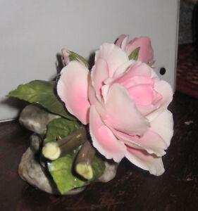 Vintage Napoleon ceramic of rose (from Italy) Cambridge Kitchener Area image 2