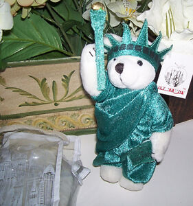 NY Souvenir Statue of Liberty Plush Mini Teddy Bear