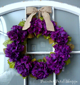Plum Hydrangea Wreath/Spring/ Easter/ Wedding Decor Belleville Belleville Area image 2