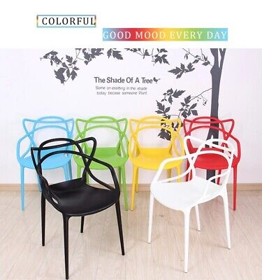 Masters style Lounge Kitchen Dining Chair Retro stack able Garden Outdoor Indoor