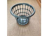 Laundry washing basket grey plastic Grab a Bargain!! For £2