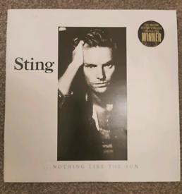 Sting Nothing Like The Sun vinyl