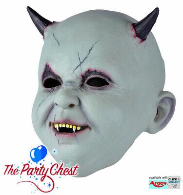BABY DEVIL HALLOWEEN MASK Adult Horror Demon Baby Costume Mask Accessory BM516 - Halloween Demon Baby
