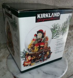 Kirkland Musical Christmas Waterglobe With Revolving Base
