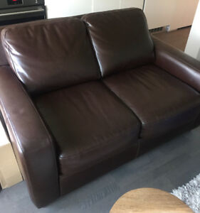 Brown Leather Couch - Great Condition