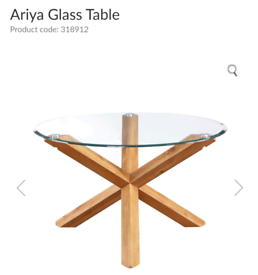 GLASS DINING TABLE AND 4 LUCY CHAIRS ** THE RANGE **