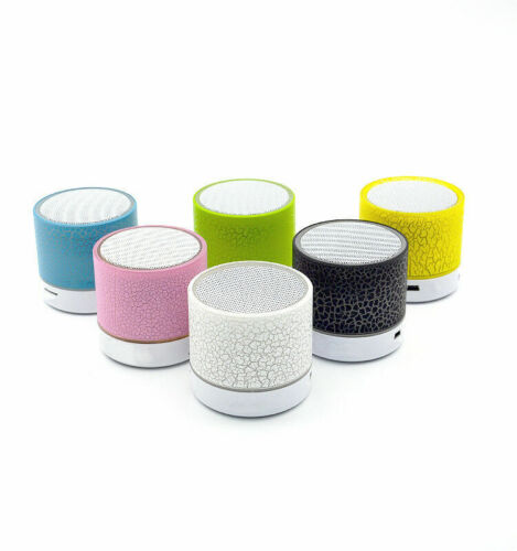 Colorful LED Light Bluetooth Portable Speaker Supports USB and TF card
