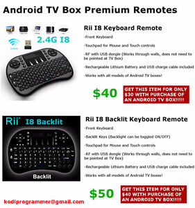 Premium Android TV Box Remotes (Keyboard/Mouse Controls)