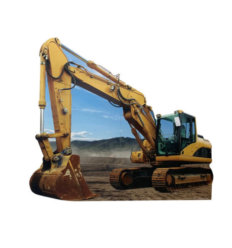 CONSTRUCTION EXCAVATOR - LIFE SIZE STANDUP/CUTOUT BRAND NEW - PARTY 3037