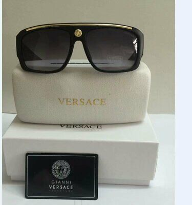 Versace Sunglasses VE9113 Black-Less golden/Black Men Sunglasses 62mm
