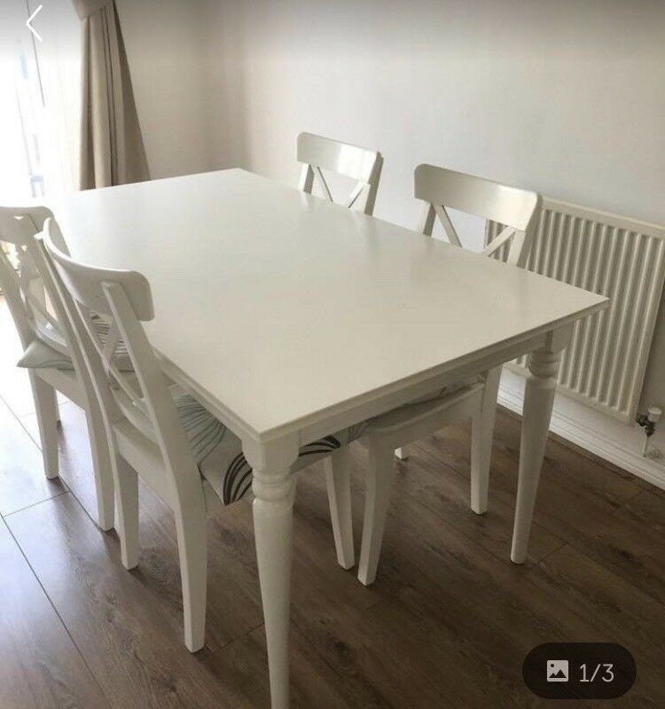Ikea White Extending Dining Table Ingatorp