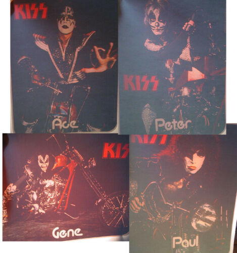 KISS VINTAGE 1976 DESTROYER ERA ACE PETER GENE PAUL ON CHOPPERS IRON ON TRANSFER