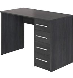 Movian Idro 4-Drawer Desk, 56 x 110 x 73cm, Dark Grey