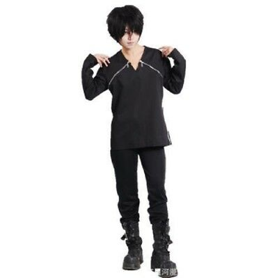 Sword Art Online Kazuto Kirigaya Kirito Shirt Top Halloween Cosplay Costume #40