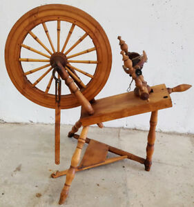 Authentic Spinning Wheel. XIX Century.