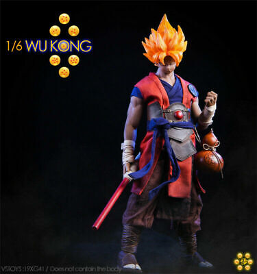 1/6 Anime Dragon Ball Goku Wu Kong Clothing W/Head F 12