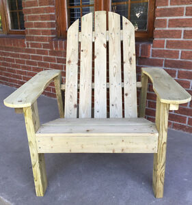 Magnifique chaise Adirondack tout en bois, pour l'exérieur West Island Greater Montréal image 3