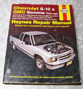 Haynes Repair Manual : Chevrolet S-10 and GMC Sonoma Pick-Ups