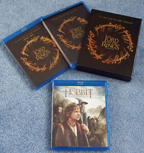 Lord of the Rings + The Hobbit Blu-ray discs