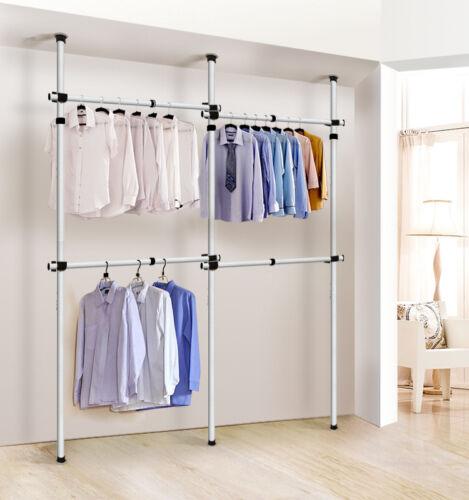 Us Adjustable Home Closet Clothes Hangers Shelves Garment