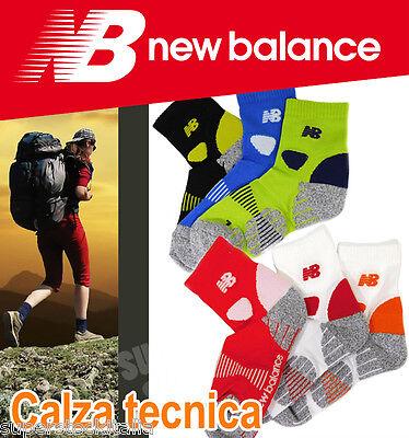 calzini NEW BALANCE calze sport techno corsa bike running UOMO DONNA NBU86