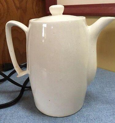 Vintage Small Electric Ceramic Tea Pot Coffee Pot Hot Pot 120 V 350 W