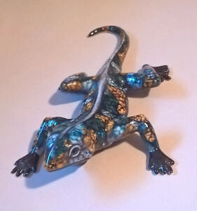 Iguana Gecko Collectible Porcelain Ornaments