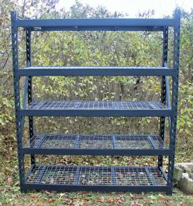 Steel Storage Shelf - Heavy Build and Adjustable
