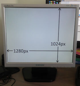 """Samsung SyncMaster LCD old style 4:3 17"""" monitor 712N, RGB only"""