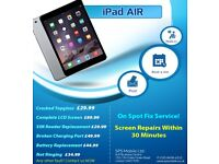 Apple iPad 2/3/4/Mini 1,2,3 /Air Broken Top Glass Digitiser LCD Screen Repair Replacement Service