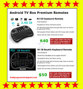 Premium Rii I8 + Rii I8 Backlit Keyboard Android TV Box Remotes!