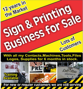 SELLING MY SIGN & PRINTING ACTIVE BUSINESS .