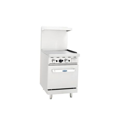 """Atosa Cookrite Ato-24g, 24"""" Restaurant Griddle Oven Stove Nat Gas Free Liftgate"""