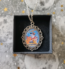 Disney Oliver and Company Silver Cameo Charm Necklace