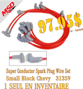 SPECIAL-MSD Super Conductor Spark PluG Wire Set SB Chevy (31359)