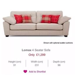 DFS Lomax 4 Seater Sofa in Sand