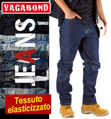 JEANS PANTALONE UOMO VAGABOND 5 TASCHE ELASTICIZZATO TG.54 STRETCH LAVORO NEW