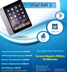 Apple iPad 2/3/4/Mini 1,2,3 /Air Broken Top Glass Digitiser Repair Replacement Brent Cross
