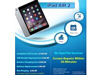 Apple iPad 2/3/4/Mini 1,2,3 /Air Broken Top Glass Digitiser Repair Replacement Brent Cross